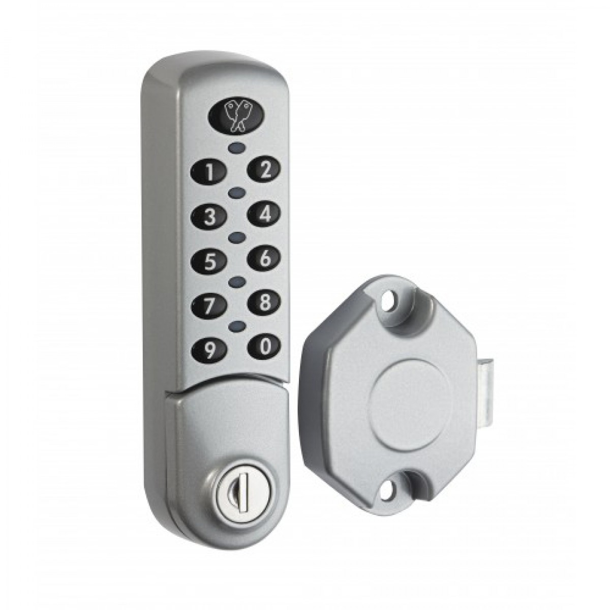 Commercial automatic door lock system